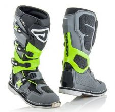 Adult Acerbis X-Rock Boots Grey / Flo Yellow